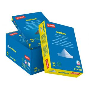 Kopipapir STAPLES Multiuse A4 80g4H500/F