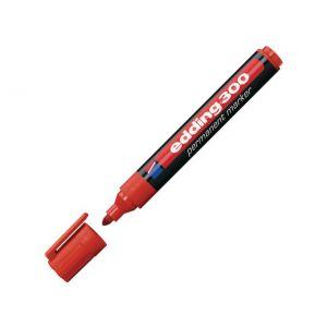 Marker EDDING 300 rund spids rød (1,5-3mm)