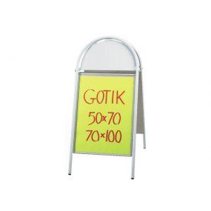 Gadestativ Gotik 50X70cm hvid