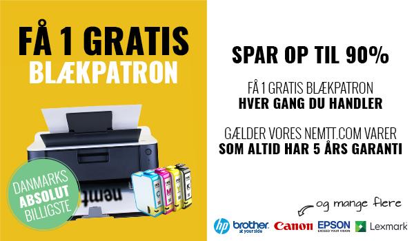 FÅ 1 GRATIS PRINTERPATRON