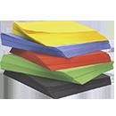 Farvet papir og Karton